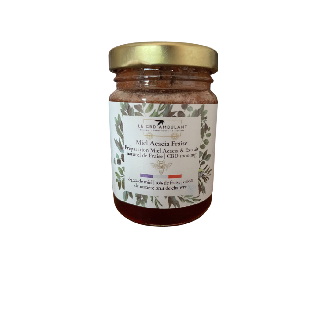 Miel cbd fraise